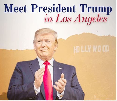 "For a contribution ""of any amount,"" you can enter to win a chance to meet the president in Los Angeles."